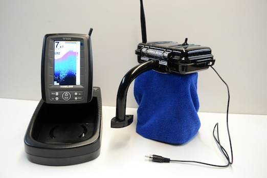 Used portable toslon fish finder for microcat bait boat ebay for Used fish finders